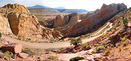 Capitol Reef National Park - Burr Trail Switchbacks (10:51 AM Oct 12, 2005)