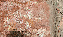 River House Ruin - Pictographs - Handprints