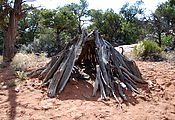 Cedar Mesa - Lime Creek Tower Ruins - Wood Shelter - Wood Shelter