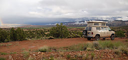 Capitol Reef National Park - Camping near Oak Creek - Sportsmobile