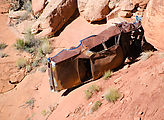 Comb Ridge Dugway - Old Highway 95 - Old Car - 1968 Oldsmobile Delta 88
