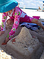 Puerto Morelos - Sand Castle - Beach - Lyra (Photo by Laura)